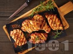 Свинско бон филе на грил с марината с лимон, горчица, мед, чесън и ароматни подправки - снимка на рецептата